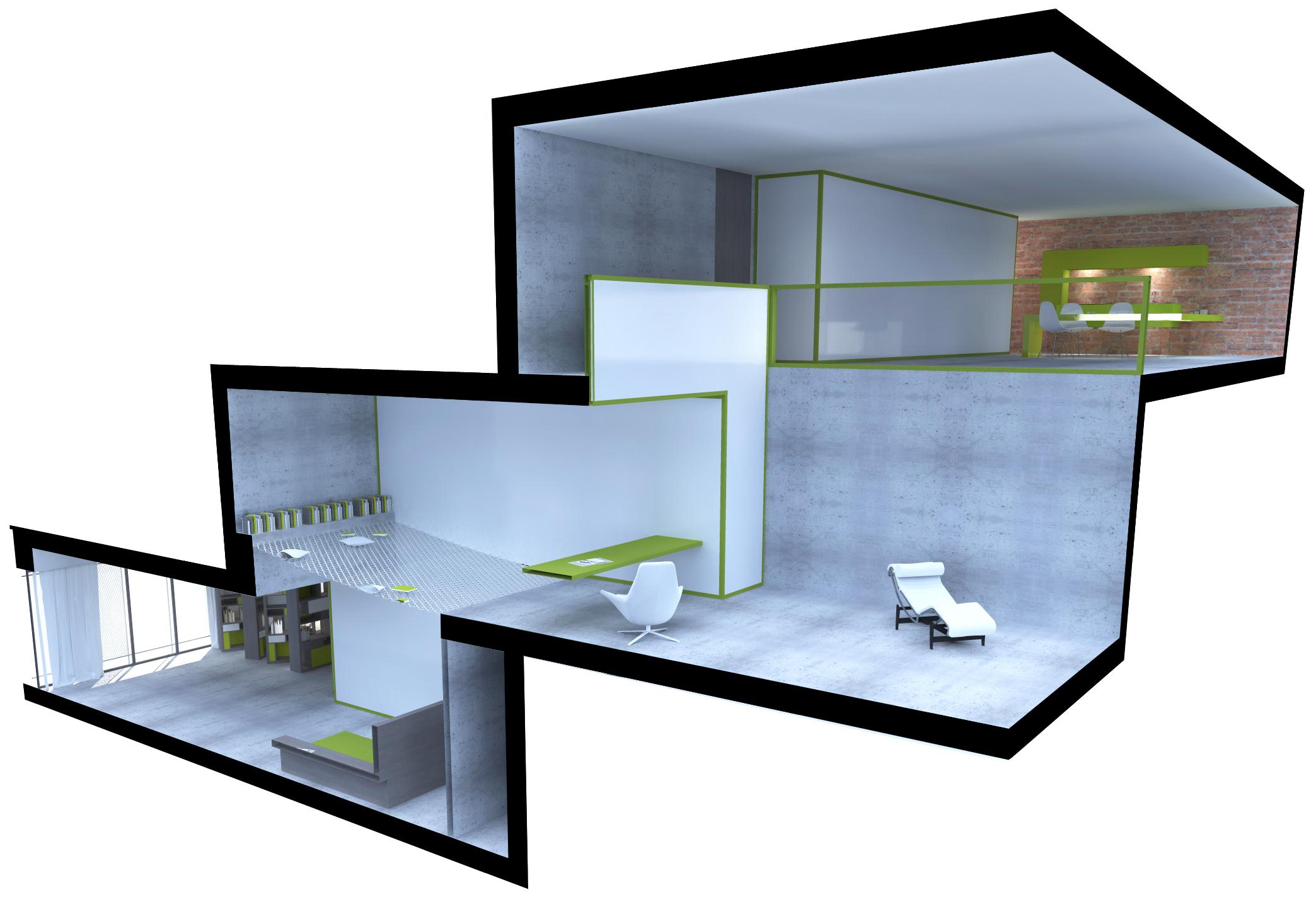louisedelabre architecte interieur loft 2 06 l d interieur. Black Bedroom Furniture Sets. Home Design Ideas